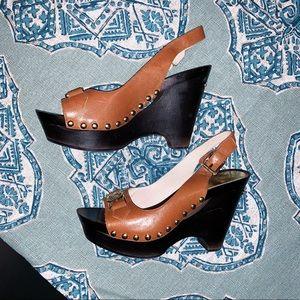 Michael Kors Charm Sling Leather Heels